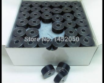 144 x Black Pre-wound Plastic Bobbins Embroidery Thread
