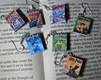 Miniature Harry Potter Book earrings jewelery