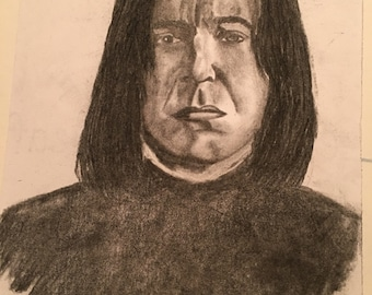 Severus Snape charcoal drawing