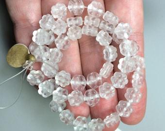 Frosted glass flower beads,Premium Bohemian Czech Crystal Matte flower Beads 8mm