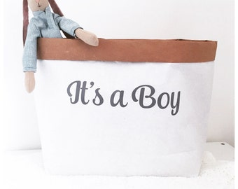 Its a boy paper sack, gift hamper, baby gift bag, new baby gift, baby shower