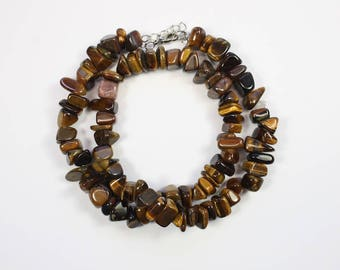 Gemstone Beads, Tiger Eye, Chunky Stones, Brown Stones, Natural Stone, DIY, BS226