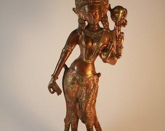Brass Buddha Statue of Goddess