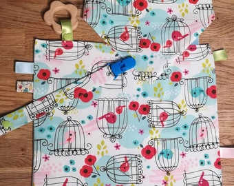 Birds fabric baby kit