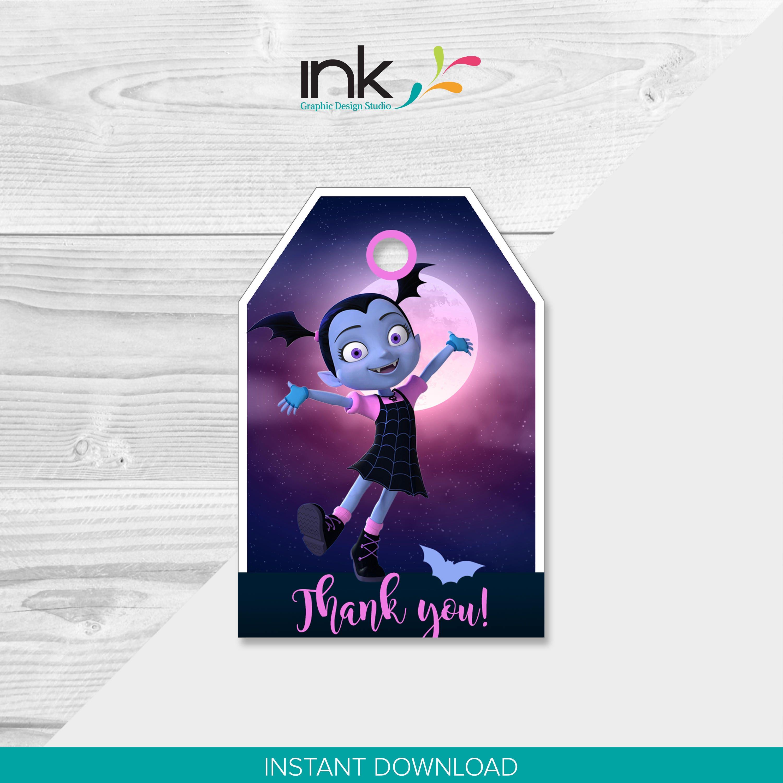 Vampirina Thank You Tags Instant Download Printable