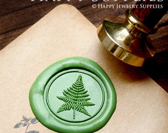 Buy 1 Get 1 Free - 1pcs Plant Gold Plated Wax Seal Stamp (WS090)
