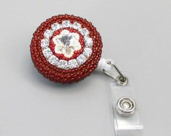 Beaded Badge Holder, Crystal Badge Reel