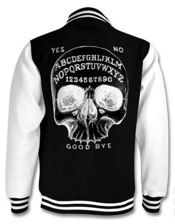 Skull Ouija Board varsity jacket