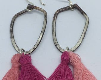 Sterling earrings with tassels