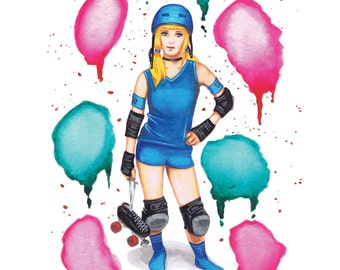 The Cleaner - poster A3 - Roller Derby