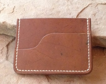 Minimalist Front Pocket Wallet for Her or Him, Hand Stitched, Great Unisex Design, a Thoughtful Gift
