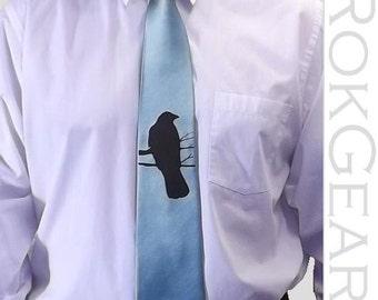 RokGear Crow print Neckties - 2 Mens microfiber neckties print to order in colors of your choice