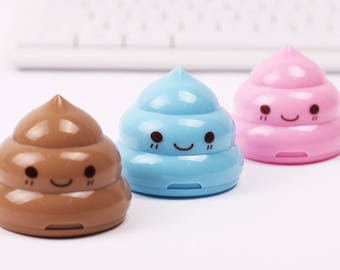 School Supplies / Unicorn Poop Sharpeners / Cute Poop Sharpeners / Back To School / Office Supplies / Pencil Sharpeners / Kawaii Sharpeners