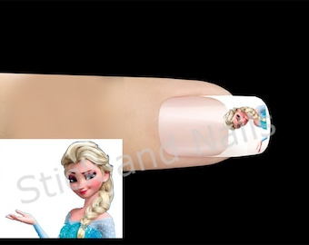 The snow Queen nail stickers
