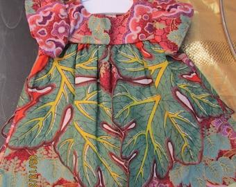 OOAK Vintage Hankie Leaf Dress for American Girl hand sewn