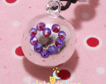 Swarovski purple AB heart pregnancy's Bola