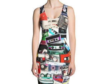 90s Hip Hop Clothing Cassette Tape Dress Retro 90s Clothing Vintage 80s Clothing Music Dance Vaporwave Aesthetic Clothing Burning Man