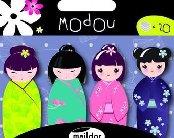 sticky notes geisha/  doll