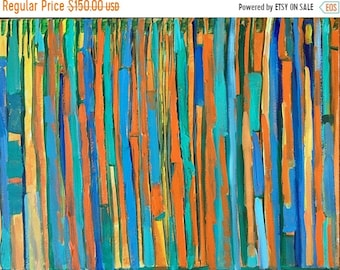 """ON SALE Abstract acrylic painting original painting 18 x 24 inches on stretched gallery erapped canvas eith white 1 3:8"""" edges, fine art, wa"""