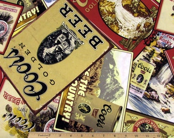 Coors Golden Beer Labels Fabric From Springs Creative
