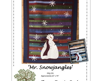 """Pattern 'Mr. Snowjangles"""" by Front Porch Quilts #270 Paper Pattern"""