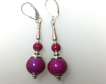 Pink Color Changing Bead Earrings Sensational!