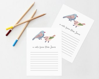 Teachers Notes. Set of 18 Personalized Flat Note Cards. Many designs to Choose from! Great Christmas Gift!