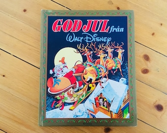 Swedish Disney Christmas book - God Jul - childrens book Walt Disney collectible