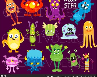 Clipart, monsters, monster, cards, animated, color