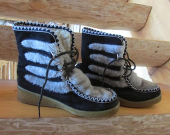 Northlander Women Size 8 After Ski Boot Black and Gray