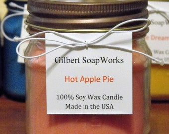 Soy Hot Apple Pie Candle // hand poured // gifts for her // wedding gifts // home sweet home