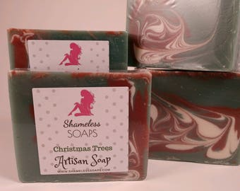 Christmas Tree Farm,  Cold Processed Soap, Soap, Handmade Soap, ShamelessSoaps