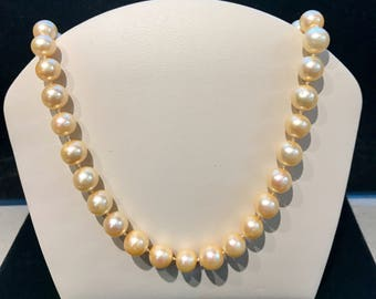 Vintage Yellow Freshwater Pearl Necklace N-FWP-30