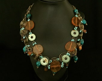 Wire and Bead Multi-Strand Necklace         VG2082