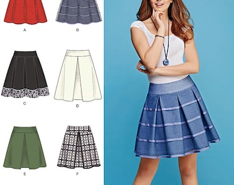 Simplicity Sewing Pattern 1109 Misses' Skirts with Length and Trim Variations
