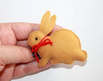 Felt Bunny Ornament Easter Ornament Easter Gift Felt Rabbit Ornament Easter Ornament Felt Easter Bunny Decoration Bunny Decor Party Favor