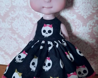 Killer Cute Babydoll Style Dress for Circus Kane Cerise Tiny BJDs  by Tickled Pink by Julie