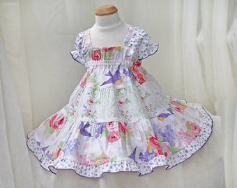 Toddler Dress Special Occasion Toddler Girl Clothes Ruffled Floral Toddler Girl Spring Dress 12m 18m 2T 3T 4T Cotton Twirl Dress Pink Purple