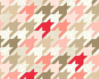 Modern Tyke Houndstooth Pink from Henry Glass