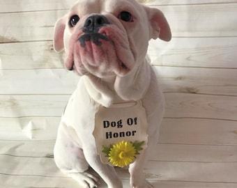 Dog of honor, Wedding Dog Bandana, Dog wedding bandana, Dog bandana, Dog wedding accessory, Pet wedding bandana, Customized Dog Bandana, Dog