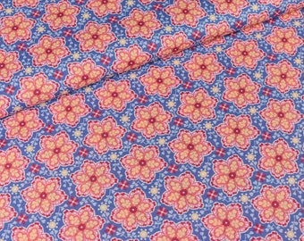 Cotton fabric Emily Flower Purple digital print (11.50 EUR/meter)