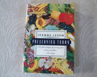 "Vintage Book ""Preserving Today"" Jeanne Lesem Recipes How to Preserve Foods"