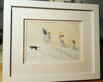 Framed 'We're going on a bear hunt' by Rosen and Oxenbury