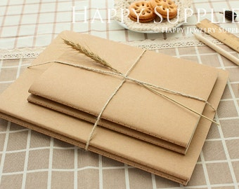 16K (B5 / 18.5x26cm) Pack of 5 Blank Kraft Notebooks. Wholesale / Bulk. Notepad. Sketchbook. Notebook Journal (NO LOGO or Marks on Cover)