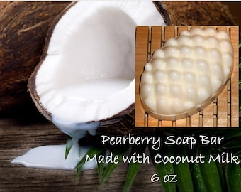 Pearberry Soap; Free Shipping Soap Bar (Domestic Only); Coconut Milk Soap Bar; Skin Care Soap Bar; Pearberry Scent; Soap Bar 6 oz