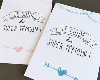 Booklet for pink or blue wedding witnesses, super light guide