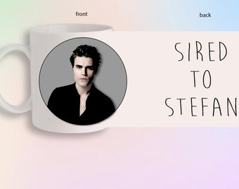 Sired To Stefan Salvatore The Vampire Diaries Originals Portrait Front And Back Gift Mug