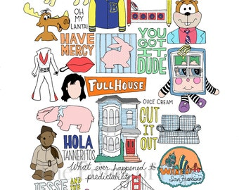 Full House Collage Print - FREE SHIPPING