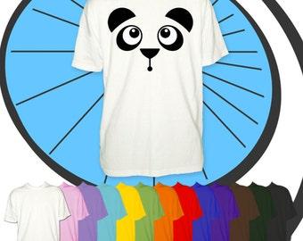 Childrens Funny Cute Panda Bear Face T Shirt - Kids Animal Tshirt -  Childs Endangered Species T-Shirt - Boys / Girls