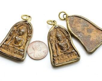 Antique Wrapped Buddha Pendant- b11